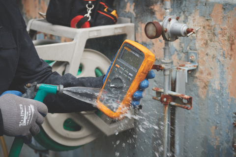 The new Fluke® 87V MAX True-rms Digital Multimeter is designed to work reliably in even the harshest industrial environments so technicians can take accurate measurements safely regardless of conditions. Built on the trusted features of the Fluke 87V, the 87V MAX is the most rugged DMM Fluke has ever made. (Photo: Business Wire)