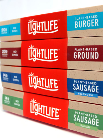 Lightlife's new plant-based meat line will be available in more than 12,000 retail stores nationwide including Kroger, Publix and Target (Photo: Business Wire)
