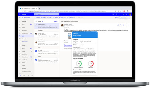MicroStrategy HyperIntelligence injects predictive insights from DataRobot into emails so underwriters can make more informed decisions on loan applications. (Photo: Business Wire)