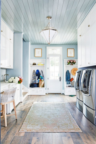Throughout the 6,201-square-foot home, guests will discover three unique laundry rooms – each featuring LG innovations that are CERTIFED asthma and allergy friendly® by the Asthma and Allergy Foundation of America (AAFA). Photo Credit: David Land