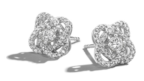 Center of Me Diamond Stud Earrings 1/2 carat total weight 10K White Gold Retail: $1,299.99 Now in Kay Jewelers stores nationwide and online at KAY.com. (Photo: Business Wire)