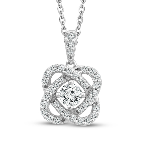 "Center of Me Diamond Necklace 1/2 carat total weight 10K White Gold 18"" Retail: $1,299.99 Available now in Kay Jewelers stores nationwide and online at KAY.com. (Photo: Business Wire)"