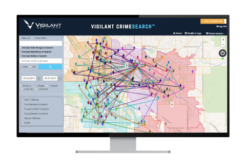 CrimeSearch maps forensic and investigative crime data, generating actionable intelligence (Graphic: Business Wire)