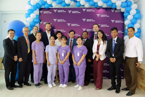 Fresenius Medical Care collaborated with Hebron Medical Center in Cambodia to bring high-quality, affordable dialysis treatment to Cambodian patients through the new dialysis clinic at HMC opened today. (Photo: Business Wire)