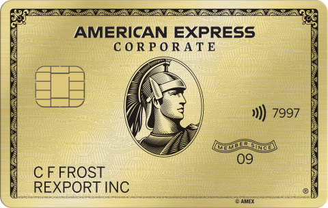American Express Corporate Gold Card (Photo: Business Wire)
