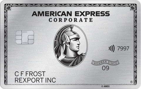 American Express Corporate Platinum Card (Photo: Business Wire)