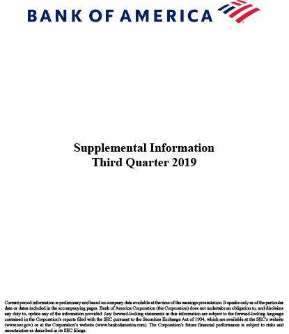 Q3 2019 Supplemental Information