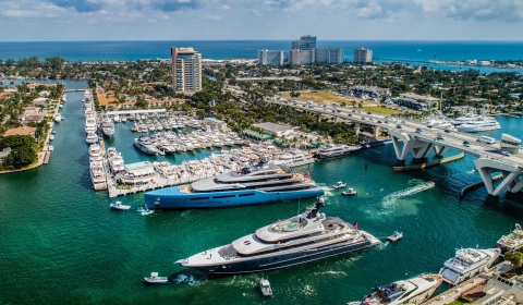 The Fort Lauderdale International Boat Show, the largest in-water boat show in the world, is set to take place Oct. 30 through Nov. 3. Photo Credit: Forest Johnson (Photo: Business Wire)