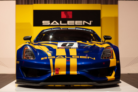 The Saleen GT4 concept is a specially-built racing versions of the new Saleen 1 turbocharged, mid-engine sports car, designed to compete in GT4 racing series worldwide. (Photo: Brett Turnage)