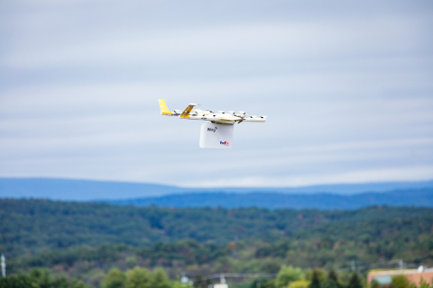 Wing Drone Deliveries Take Flight in First-of-its-Kind Trial with FedEx (Photo: Business Wire)