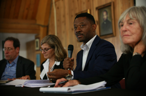Economic Equity Network Sponsors Pictured (L to R): Bruce Katz, Drexel Nowak Metro Finance Lab; Lori Bamberger, Economic Equity Network; Kofi Bonner, FivePoint and Roberta Achtenberg, former Comm'r US Civil Rights Commission (Photo: Business Wire)