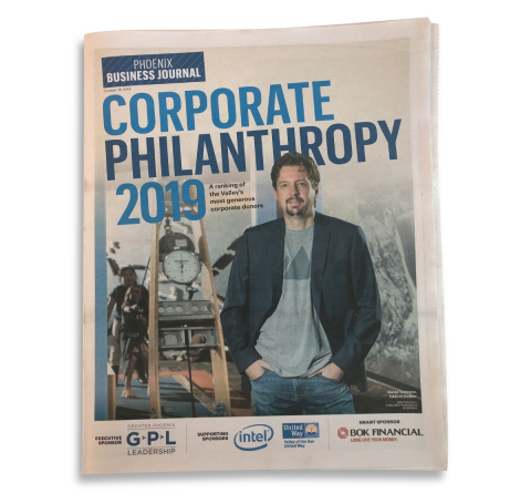 David Tedesco on cover of Phoenix Business Journal Corporate Philanthropy edition (Photo: Business Wire)