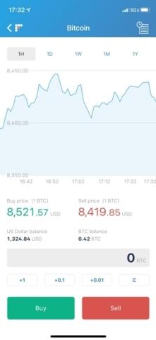 bitFlyer app iOS (Photo: Business Wire)