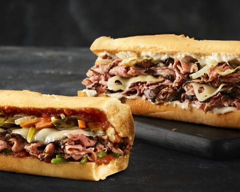 Quiznos' Prime Rib Horseradish XL Sandwich and Italian Prime Rib Sandwich (Photo: Business Wire)