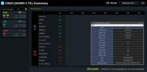 XCAL ENDC features allows users to see LTE and 5G NR KPIs simultaneously (Photo: Business Wire)