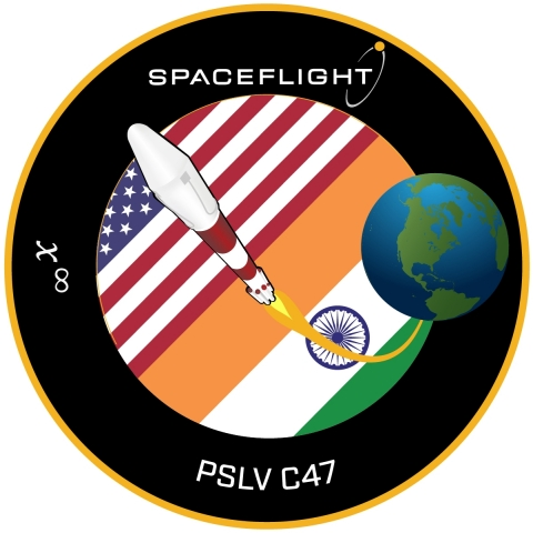 Spaceflight's mission patch for PSLV C47 (Graphic: Business Wire)