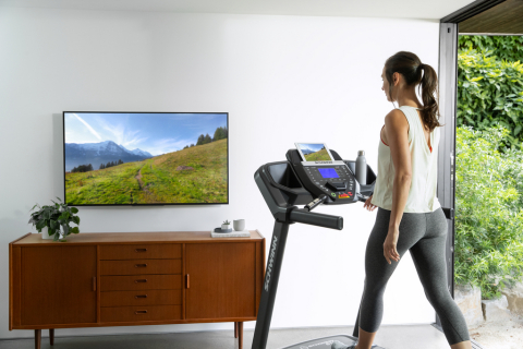 The new Schwinn 810 treadmill offers a dynamic connected fitness experience and features Nautilus, Inc.'s proprietary Explore the World app, as well as numerous workout options for a range of fitness levels. (Photo: Business Wire)