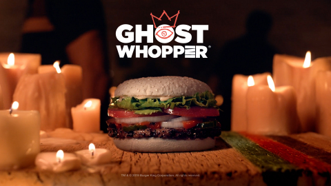 The BURGER KING® Brand Feeds Its New Ghost WHOPPER® Sandwich to the Dead (Photo: Business Wire)