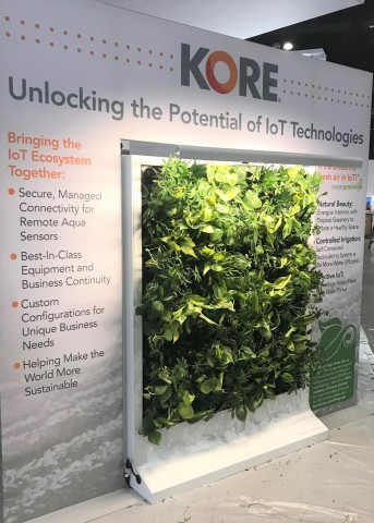The Living Wall is an innovative intersection of IoT technology and sustainability created by Sagegreenlife and powered with technology by KORE, an IoT pioneer, leader, and trusted advisor delivering transformative business performance. (Photo: Business Wire)