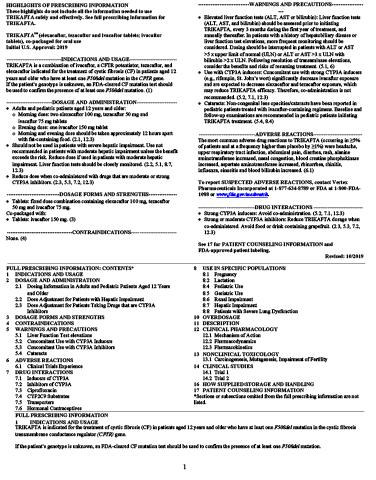 TRIKAFTA U.S. Prescribing Information