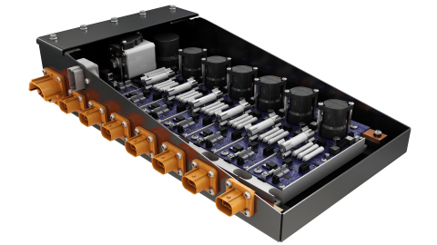 Eaton's new Flex Power Distribution Unit (PDU) for high-voltage electrified commercial vehicles designed to handle multiple load requirements. (Photo: Business Wire)