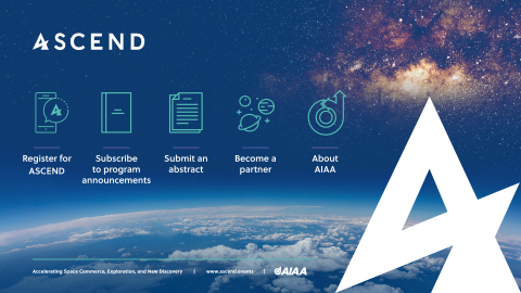 ACSEND 16-18 November 2020, Las Vegas, Nevada. The Center of Gravity for the Space Community. Powered by AIAA (Photo: ASCEND)