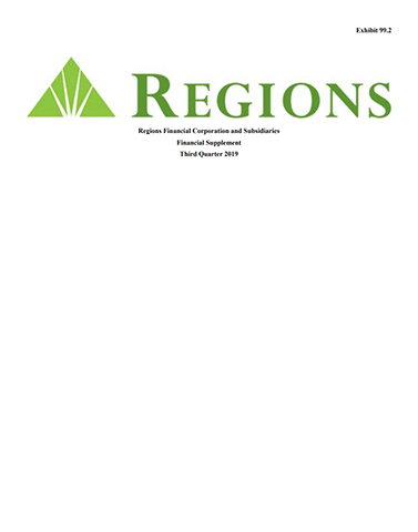 Regions Financial Corporation and Subsidiaries Financial Supplement Third Quarter 2019