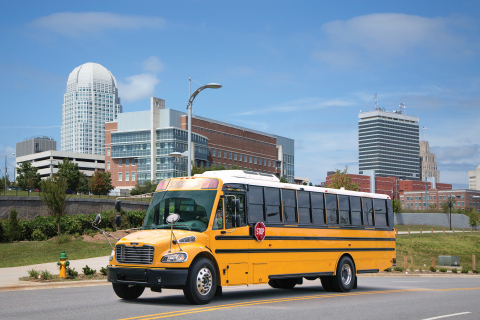 Thomas Built Buses Safe-T-Liner C2 with an Allison transmission (Photo: Business Wire)