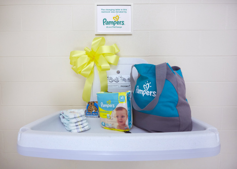 Ahead of Make a Difference Day, Pampers is continuing its commitment to provide Koala Kare changing tables in public restrooms in New York, San Francisco, Chicago, Philadelphia, Denver, Detroit and Charlotte (Photo: Business Wire)