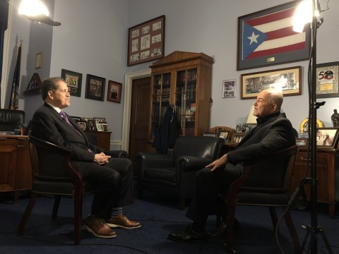 Representative Serrano sits down with Gerson Borrero for first interview since announcing his retirement (Photo: Business Wire)