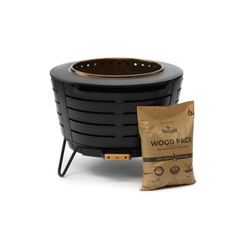 The TIKI® Brand Fire Pit & Wood Pack make real-wood fire simple, predictable and user-friendly. The Instant-light, low-smoke Fire Pit & Wood Pack are available Oct. 22 to Nov. 21 via Kickstarter. (Photo: Business Wire)