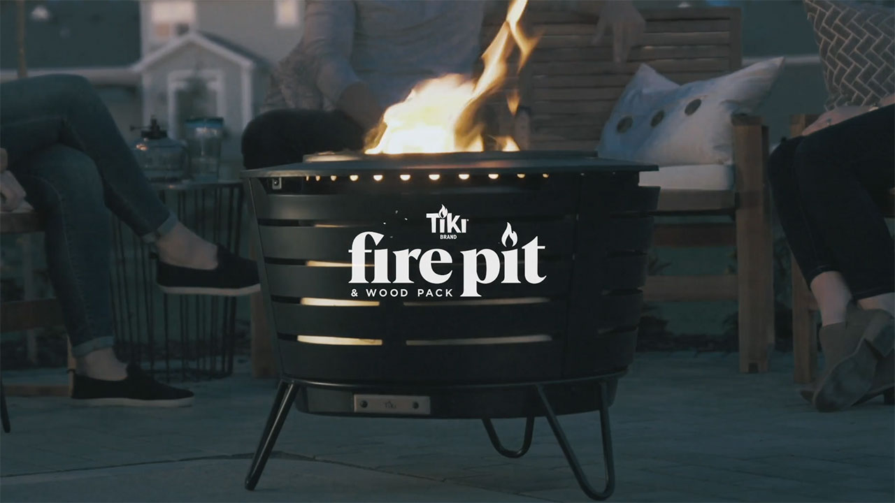 The TIKI® Brand Fire Pit & Wood Pack make real-wood fire simple, predictable and user-friendly.