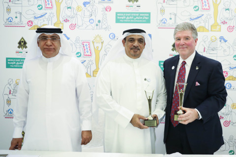 Mohamed Ali Alnuaimi, Chairman of RAK Chamber and Michael Gallagher, founder and executive chairman of the Stevie Awards (Photo: Business Wire)
