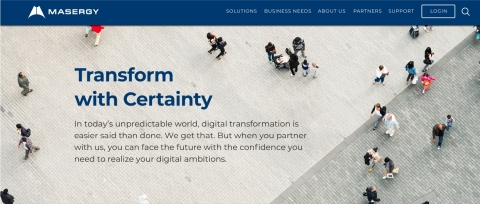 Transform with Certainty. Check out Masergy's website. (Photo: Business Wire)