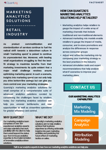 Marketing Analytics Solutions for the Retail Industry
