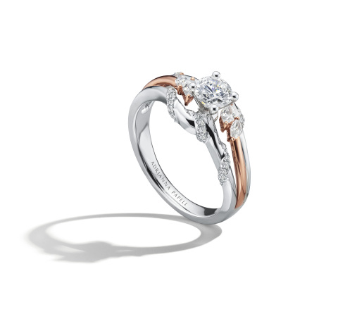 Adrianna Papell 5/8 carat total weight white and rose gold diamond ring. Retail: $2,799.99 Available at Kay Jewelers stores or online at Kay.com. (Photo: Business Wire)