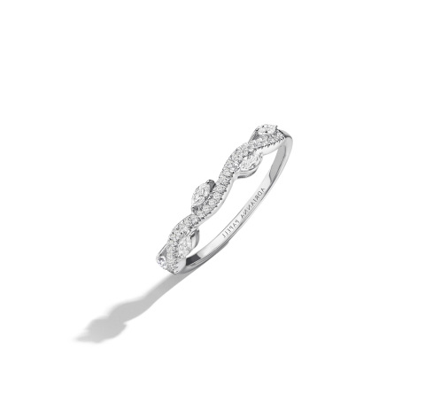 Adrianna Papell 1/3 carat total weight white gold diamond wedding band. Retail: $899.99 Available at Kay Jewelers stores or online at Kay.com. (Photo: Business Wire)