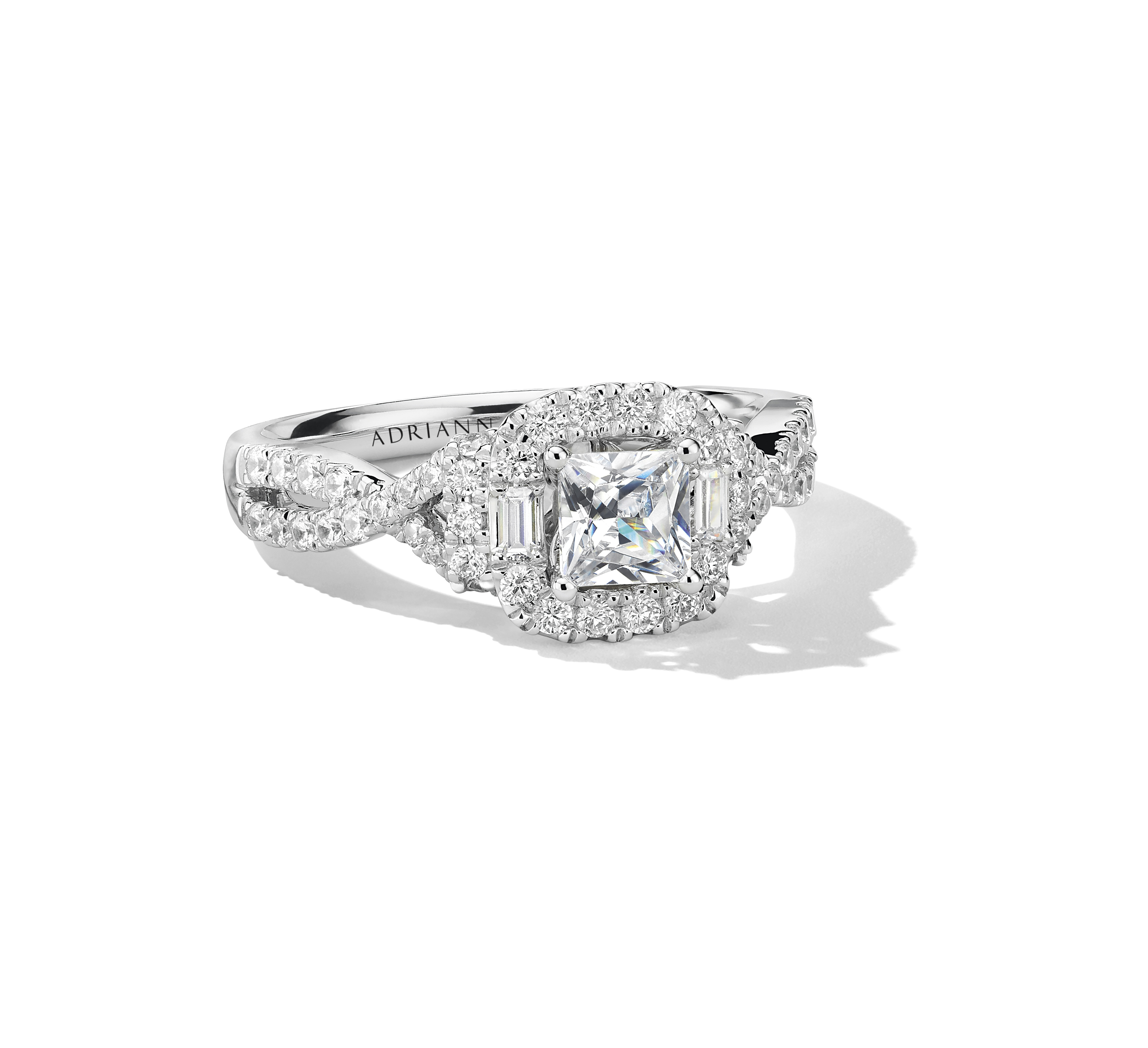 Adrianna Papell 7/8 carat total weight princess cut white gold diamond ring. Retail: $2,999.99 Available at Kay Jewelers stores or online at Kay.com. (Photo: Business Wire)