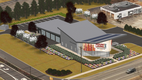 Rendering of Mount Laurel EMS station (Graphic: Catalyst Experiential)