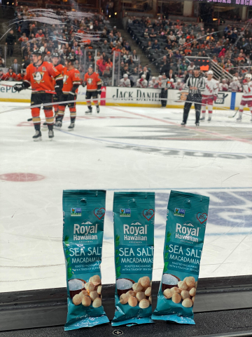 Royal Hawaiian Orchards is proud to be part of the lineup at the Honda Center, along with the Anaheim Ducks! (Photo: Business Wire)