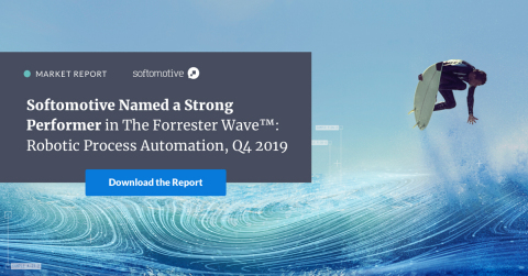 Softomotive Named a Strong Performer in The Forrester Wave™: Robotic Process Automation, Q4 2019 report. According to the Forrester report (Graphic: Business Wire)