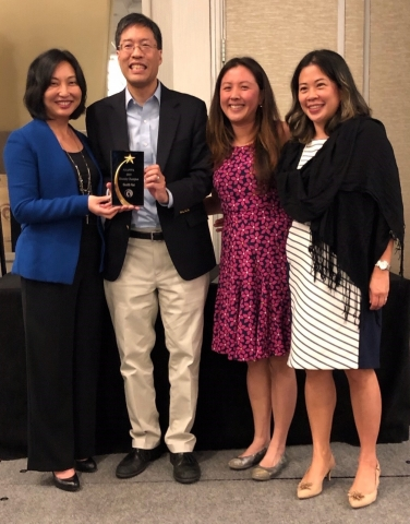 In October, Carol Kim, Health Net VP Community Investments & Government Affairs and Public Affairs, accepted the Diversity Champion Award on behalf of Health Net at the National Association of Asian Pacifics in Politics and Public Affairs annual career conference. She is joined by Alissa Ko, Health Net's Director of Strategic Giving and Community Engagement, and Christie Cardenas, Health Net's Community Relations Representative. The award was presented by Senator Dr. Richard Pan, is in recognition of Health Net's efforts to support diversity in the workplace, retention of Asian American Pacific Islanders in senior level positions and the company's long history of providing quality health care coverage in ethnic communities. (Photo: Business Wire)