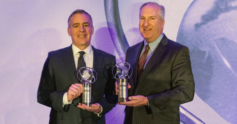 Two executives from the Penn Mutual family of companies were recently awarded 2019 Philadelphia CIO of the Year ORBIE Awards. Pictured in photo (L-R): Greg Driscoll, SVP and CIO, Penn Mutual and Bob Thielmann, SVP and CIO, Janney Montgomery Scott. (Photo: Business Wire)