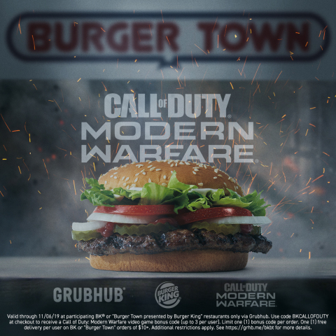 BURGER KING® Restaurants Teams up With Call of Duty®: Modern Warfare® (Photo: Business Wire)