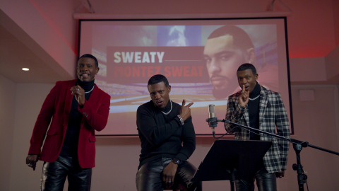 "October 24, 2019 -- R&B icon Keith Sweat drops diss track and music video in response to the recent Old Spice advertising campaign and the brand's irrational commitment to eliminating sweat in all forms, including removing Washington Redskins rookie Montez Sweat from the NFL based solely on his last name. The song is a remake of Sweat's 1996 hit ""Nobody,"" which ranked No. 1 on Billboard's Hot R&B/Hip Hop songs. Old Spice, a long time sponsor of the NFL, created the tongue-in-cheek, faux political-style campaign to support Old Spice Sweat Defense anti-perspirants, including new Dry Spray delivering superior 48-hour sweat and odor protection. (Photo: Business Wire)"