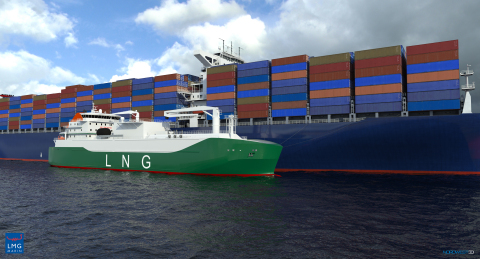 Gas Entec, a subsidiary of AG&P, will design and build the cargo handling system of the largest LNG bunker vessel in Asia. The vessel will be built at Sembcorp Marine Tuas Boulevard Yard in Singapore and will have dual-fuel engines running on LNG or marine diesel oil for cleaner propulsion (Photo: Business Wire)