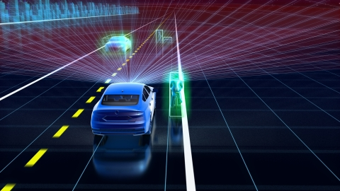 The Velodyne Velarray™ meets the demanding requirements for ADAS applications in discrete, cost-effective packaging that is ready for consumer vehicles. (Photo: Velodyne Lidar).
