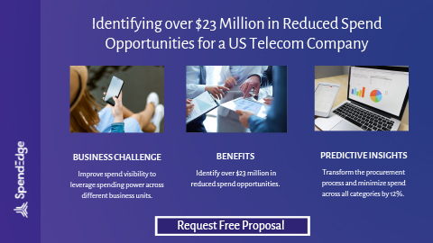 Identifying over $23 Million in Reduced Spend Opportunities for a US Telecom Company.