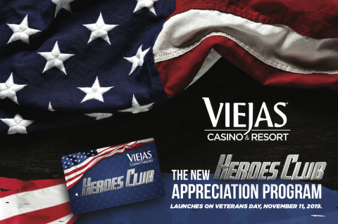 Viejas Casino & Resort is proud to announce the first dedicated benefits membership card for military, law enforcement, first responders, border patrol agents as well as their dependents. (Photo: Business Wire)