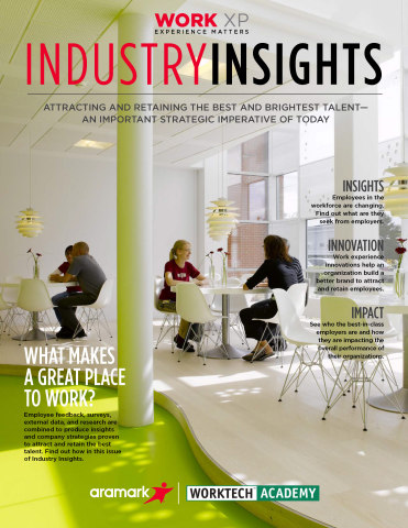 Aramark released the first issue of Work XP, an industry insights report that takes a closer look at the workforce and workplace of today and the future. (Graphic: Business Wire)